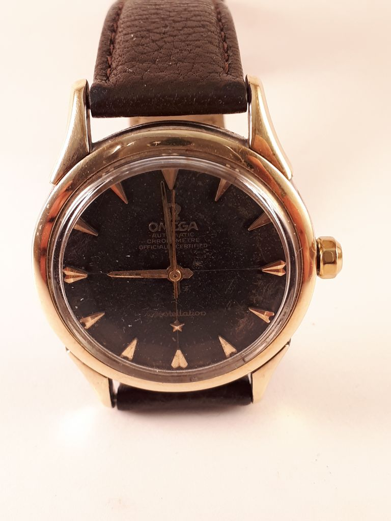 Omega-Constellation-black- pie pan-2583-3sc-cal505-1958